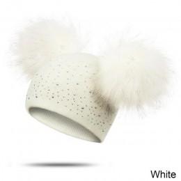 Evrfelan Pompom dziecięca czapka zimowa dla dziewczynek chłopcy dzianinowa ciepła czapeczka kapelusz dorywczo czapki czapka zimo
