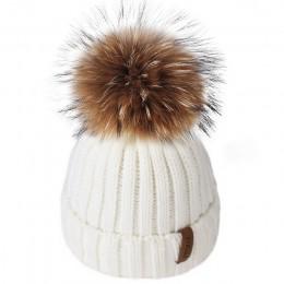 FURTALK czapka zimowa dla dzieci w wieku 1-10 czapka dzianinowa czapka zimowa dla dzieci dla dzieci futro czapki z pomponem dla