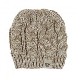 Czapka zimowa dla dziewczynki list dzianina dla dzieci jesień zima ciepłe dziewczyny kapelusz śliczna kucyk czapka zimowa s kape