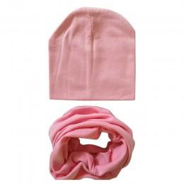 2 sztuk/zestaw jesienno-zimowa czapka dla niemowląt szalik solidna kolorowa czapka dla chłopców dziewcząt dzianina bawełniana cz