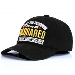 Europejska i amerykańska czapka bawełniana haftowana DSQ męska czapka bejsbolówka damska czapka przeciwsłoneczna w stylu College