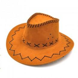 Unisex Cowgirl kapelusz kowbojski dla dziecka dzieci chłopiec dziewczyna klasyczny design stroje imprezowe Casual kapelusze prze