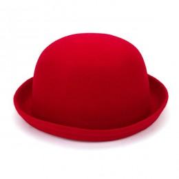 moda zima kapelusz Fedora w stylu śliczne dzieci Trendy wełna melonik filcowy Derby dyskietki kapelusze dla dziewczynkii chłopca