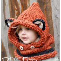2016 zima dzieci Fox uszy Handmade czapka typu beanie szalik zestawy dla 1 ~ 10 lat dzieci dziewczyny szaliki darmowa wysyłka