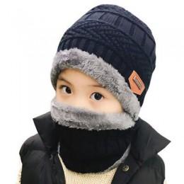 2019 Hot rodzic dziecko 2 sztuk super ciepłe zimowe kominiarka wełniane czapki z dzianiny kapelusz i szalik dla 3-12 lat dla sta