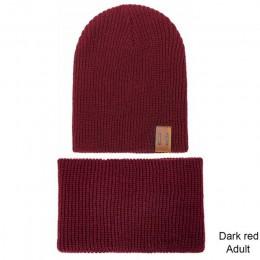 TRUENJOY gorąca sprzedaż 2 sztuk Knitting czapka beanie dziecko zima kapelusz i zestaw szalików kobiety mężczyźni Skullies kapel