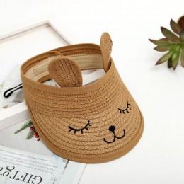 MAERSHEI letni dla dzieci kot pusty top słomkowy kapelusz koreańskie casual shade ochrony przeciwsłonecznej kapelusz przeciwsłon
