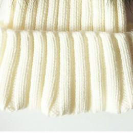 Czapka zimowa dla dzieci czapka dzianinowa szydełka podwójna naturalna czapka z pomponem szopa dziewczęta/chłopcy miękka czapka