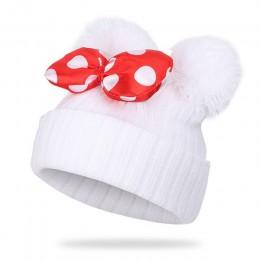 2019 Boys Baby dziewczyny Pom Poms czapka dziecięca czapka zimowa dla dziewczynek dzianiny czapki grube dziecko kapelusz niemowl
