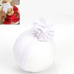 Nowe dziecko czapka beanie kwiat bawełna kapelusz czapki dla noworodka dziewczynek dzieci elastyczny turban szef okłady czapka