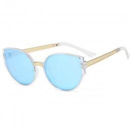 KOTTDO vintage okulary przeciwsłoneczne kocie oczy luksusowe marki okulary przeciwsłoneczne dla dzieci czarne okulary przeciwsło