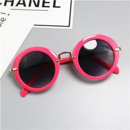 2019 nowy wzór dziewczynek markowe okulary przeciwsłoneczne projektant ochrona UV400 chłopcy metalowe okulary przeciwsłoneczne f