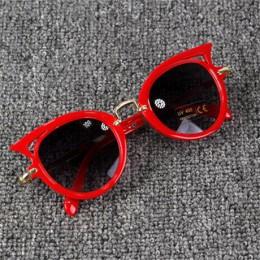 2018 okulary przeciwsłoneczne dla dzieci dziewczyny marka kocie oko dzieci okulary chłopcy UV400 obiektyw dziecko okulary słodki