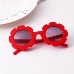 Iboode okulary przeciwsłoneczne dla dzieci kwiat okrągły kształt dla dzieci dziecko słońce okulary Gafas UV400 okulary przeciwsł