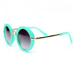 Beautyeye moda okrągłe okulary przeciwsłoneczne dla dzieci dzieci okulary przeciwsłoneczne Anti-uv dziecko w stylu Vintage okula