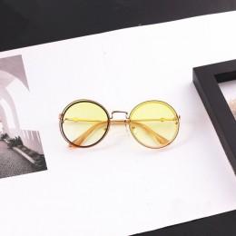 Luksusowe okulary przeciwsłoneczne dla dzieci dla dzieci okrągłe metalowe okulary przeciwsłoneczne bez oprawek wysokiej jakości
