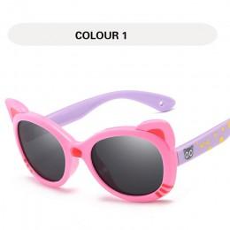 GY kocie oko okulary przeciwsłoneczne dla dzieci spolaryzowane dziewczyny dzieci różowe okulary dla chłopców UV400 okulary przec