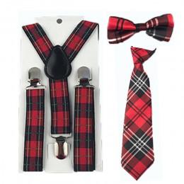 Gorące dziewczyny chłopcy pończochy muszki regulowane szelki chroniące kręgosłup zestaw krawatów ślub 1-8 lat HHtr0004a05