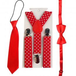 3 sztuk szelki dla dzieci dla dzieci chłopcy Bowtie dziecko zestaw podwiązek do pończoch elastyczna regulacja Y szelki chroniące