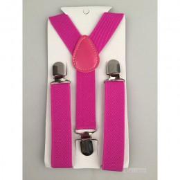 Chłopcy dziewczęta szelki dla dzieci Party wykonać jednolity kolor Clip-on spodnie Y z powrotem szelki regulowany elastyczny pas
