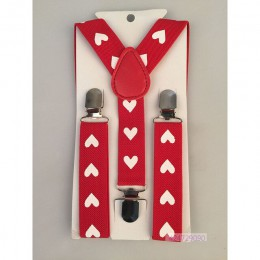 Gorący chłopcy dziewczyny dzieci dzieci małych dzieci Party serca Y szelki chroniące kręgosłup czerwony czarny kolor regulowane