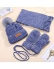 Dziecko zima szalik zestaw kapeluszy dla dzieci chłopcy dziewczęta dzianiny kapelusze szaliki rękawiczki 3 sztuk zestawy czapka