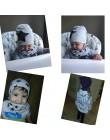 2 sztuk/zestaw bawełniana czapka dla niemowląt szalik wiosna nadruk kreskówkowy czapki dziecięce szaliki chłopcy dziewczęta mięk
