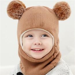 YEABIU nowy śliczny zimowy zestaw dziecięcych szalików gruby dziecięcy kapelusz szaliki garnitury dzianinowa czapka dla dzieci i
