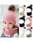 YEABIU śliczny zestaw dziecięcych szalików zimowy dziecko kapelusz szalik garnitur dzianiny dziewczyny i chłopcy czapka szalik c