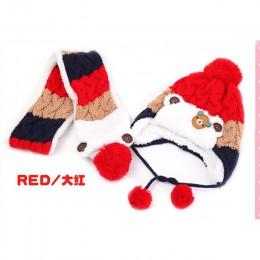 Doitbest 12 miesięcy do 4 Y dzieci czapki 2018 Korea niedźwiedź kid chłopcy czapki z dzianiny zimowe 2 sztuk futro dziewczynek c