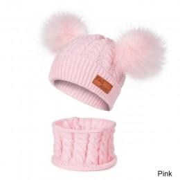 YEABIU nowa czapka zimowa i szalik zimowa czapka dla niemowląt dla dzieci ciepła czapka i Snood dla dziewczynek chłopcy czapka d