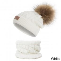 CANCHANGE 2019 New Baby czapka zimowa i zestaw szalików 2/PS dziecięca dzianinowa czapka z pomponem ciepła gruba z aksamitną cza