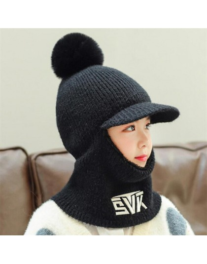 2019 dzianiny krótkie pluszowe z kapturem szalik dzieci kapelusz i szalik dziecko zimowe ciepłe ochrona ucha Pom Pom czapka z da