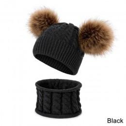 YEABIU śliczne nowa jesienna zima czapka dla niemowląt szalik garnitur moda ciepłe chłopcy dziewczęta zimowa czapka z dzianiny s