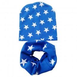 Nowa jesienno-zimowa czapka dla niemowląt zestaw chłopcy dziewczęta szalik wiosna ciepły szalik dla dzieci czapki zestawy bawełn