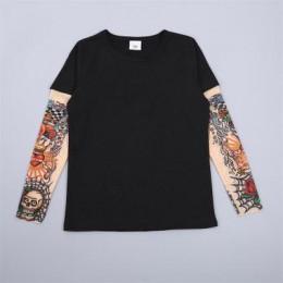 Odzież dla dzieci chłopiec tatuaż T shirt lato nowy Cartoon koszulki z długim rękawem drukowane koszulki dziecięce topy dziecięc