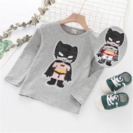 Chłopcy Cartoon Superhero koszulka dla dzieci chłopcy wiosna jesień kapitan ameryka Batman Spiderman Ironman koszulka z długim r