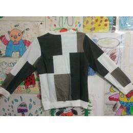 2019 nowych moda ubrania dla dzieci, chłopiec wiosna sprawdzić z długim rękawem siatka kurtka T-shirt dzieci Knitting kwadraty C