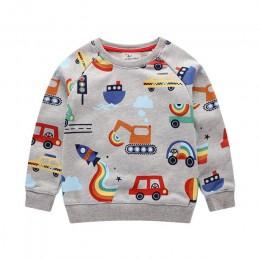 Skoki metrów Boys Baby bluzy Cartoon jesień zima z długim rękawem zapętlone topy chłopcy dziewczęta koszule bawełniane ubrania d