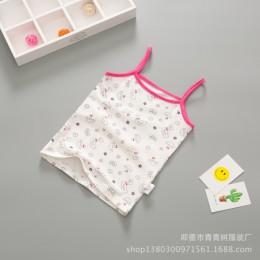 Bawełniane dziewczyny T koszula letnia koszulka dla dzieci koszule kreskówki dziewczyny topy dzieci kamizelka podkoszulek dla dz