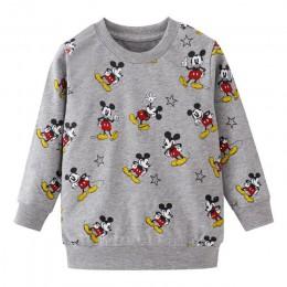 Dzieci Mickey wzór koszulki z krótkim rękawem dla dzieci Cartoon koszulka z długim rękawem topy dla chłopców odzież dla dzieci s