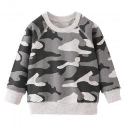 Nowe chłopięce długi sweter z rękawem dla dzieci nowo zaprojektowany ubrania z nadrukiem wózek widłowy dla dzieci chłopcy dziewc