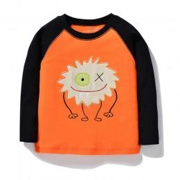 Skoki metrów chłopcy Tshirt Baby Boy ubrania wózek widłowy wzór dzieci t-shirty maluch chłopiec z długim rękawem topy Tee marka
