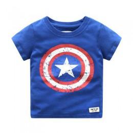 2018 letnie dzieci chłopcy t-shirty z krótkim rękawem bawełna kapitan ameryka T Shirt topy dla małego chłopca Tee Shirt odzież d