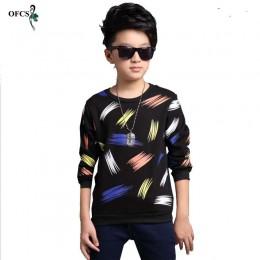 OFCS najlepiej sprzedające się nowe wzory wzorów chłopcy t shirt z długim rękawem marki dziecięce topy bawełniane dziecięce ubra