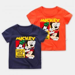 Disney Baby T Shirt Baby Boy ubrania Disney ubranie dla dziewczynki Baby Girl ubrania Bebe Mickey T-shirt Cartoon bawełniane ubr