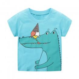 VIDMID 2-7 lat dzieci chłopcy dzieci chłopcy T-Shirt bawełniane zwierzęta kreskówkowe chłopcy z krótkim rękawem t-shirty na letn
