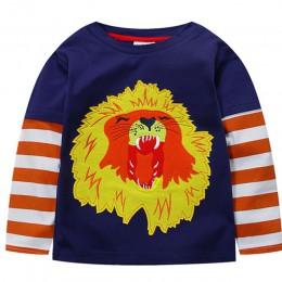 2019 chłopcy T shirt samochód T-shirt dzieci Tshirt ubrania z długim rękawem jesień Top koszula koszule Meskie Koszulka Enfant G