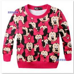 2019 wiosna nowy nabytek dziecko dzieci dziewczyny czerwony bowknot swobodny sweter z długim rękawem T-shirt koszulki chłopięce