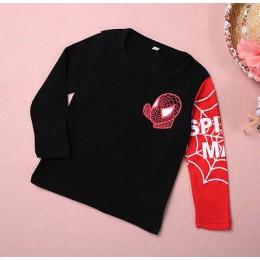 Nowy 2-8Y Spider-man chłopcy t shirt wiosna/jesień kreskówka spiderman z długim rękawem dla dzieci t-shirty bluza dziecięca